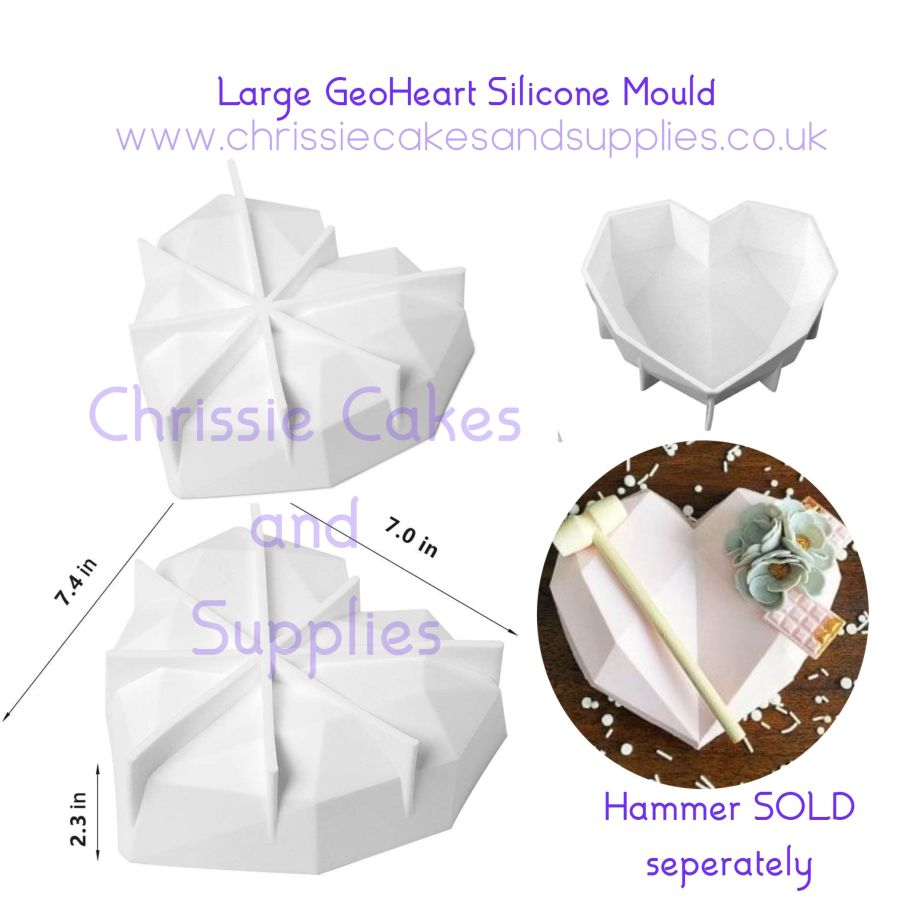 Large Diamond GeoHeart Mould