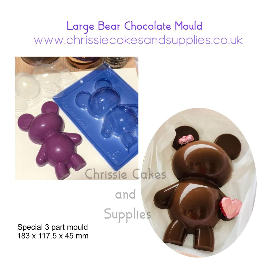 Large Bear chocolate mould- 3 part mould