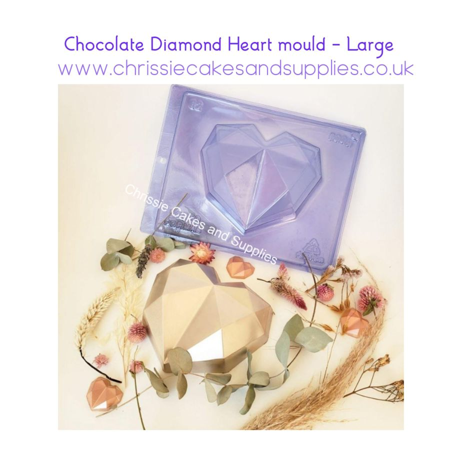 Chocolate Diamond Heart mould - Large