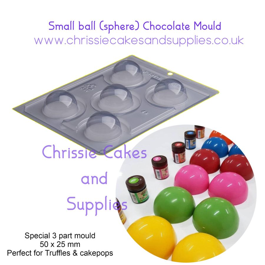 Small ball sphere chocolate mould - PFM 46