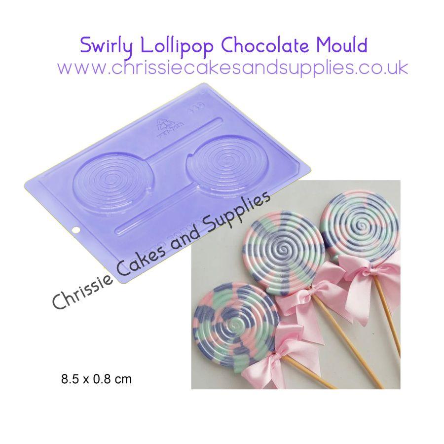 Swirly Lollipop Chocolate mould - PFM 449