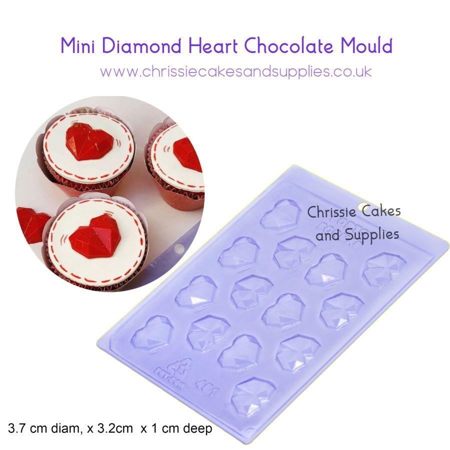 Mini Diamond Heart chocolate mould