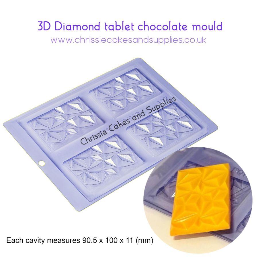 3D Diamond Tablet chocolate mould pfm 447