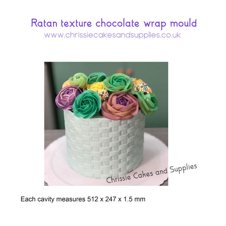 Ratan texture chocolate wrap mould