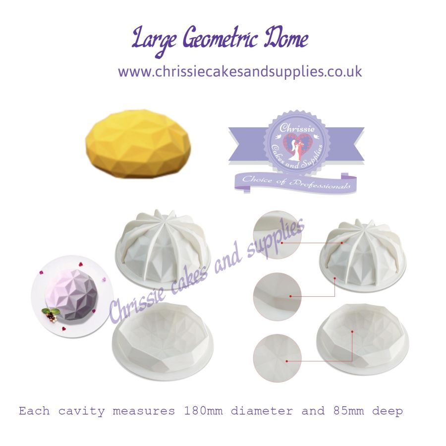Large Geometric Dome Mousse mould