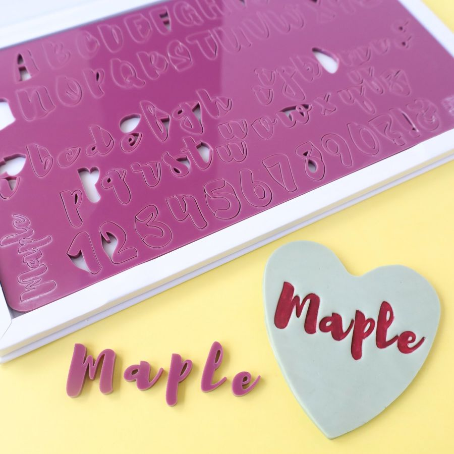 SWEET STAMP - MAPLE SET - UPPERCASE, LOWERCASE, NUMBERS & SYMBOL