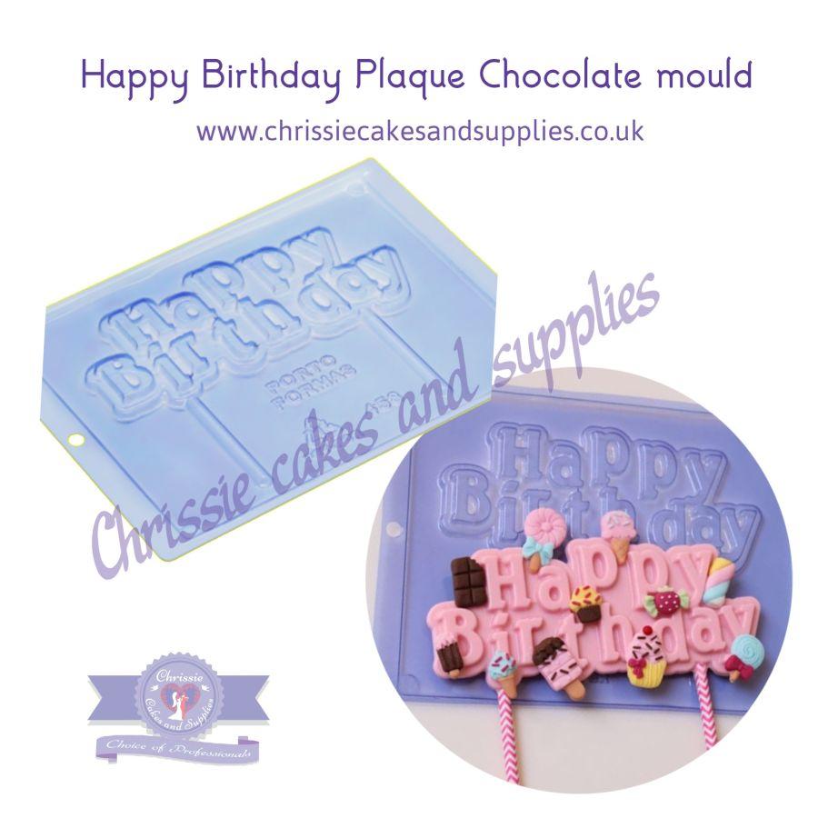 Happy Birthday Plaque Chocolate mould Pfm 458