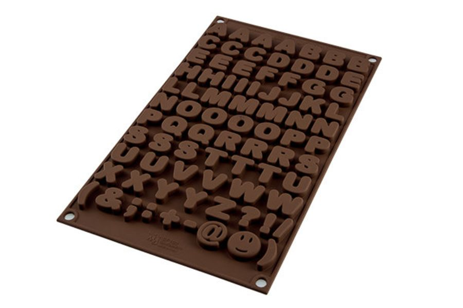 Alphabet chocolate mould Easychoc Silkomart
