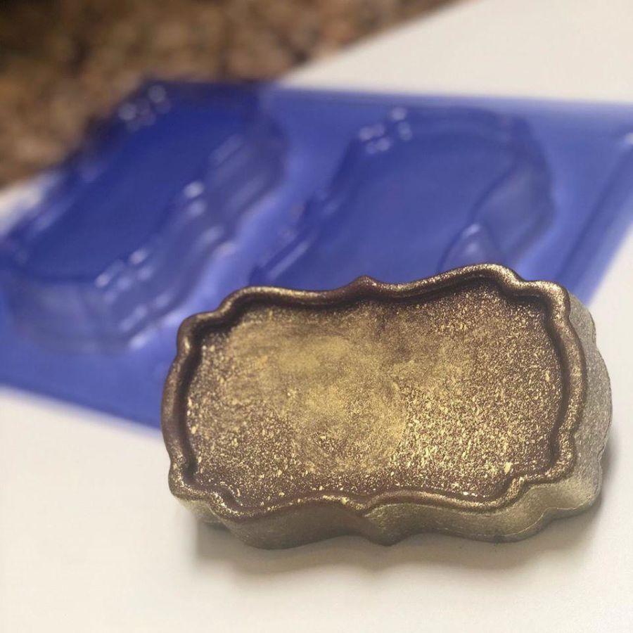 3 part PLAQUE chocolate mould  Pfm 58