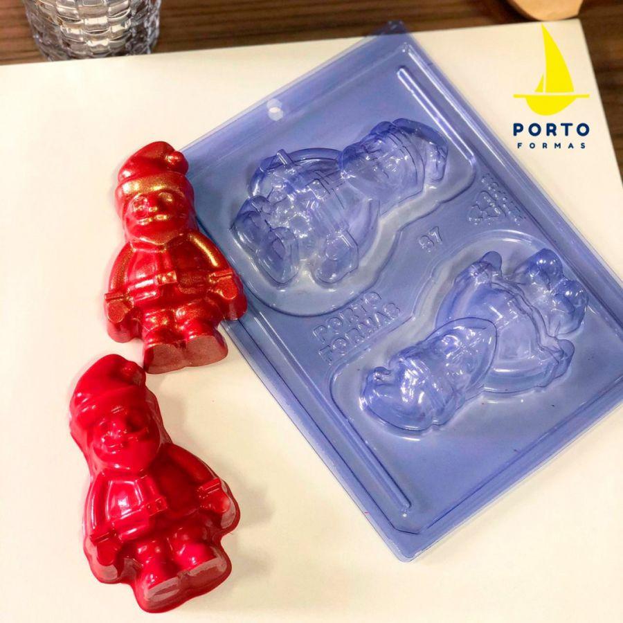2 cavity Santa Claus 3 part mould - pfm 87