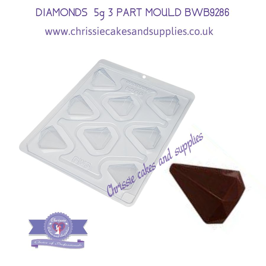 DIAMONDS  5g 3 PART MOULD BWB9286