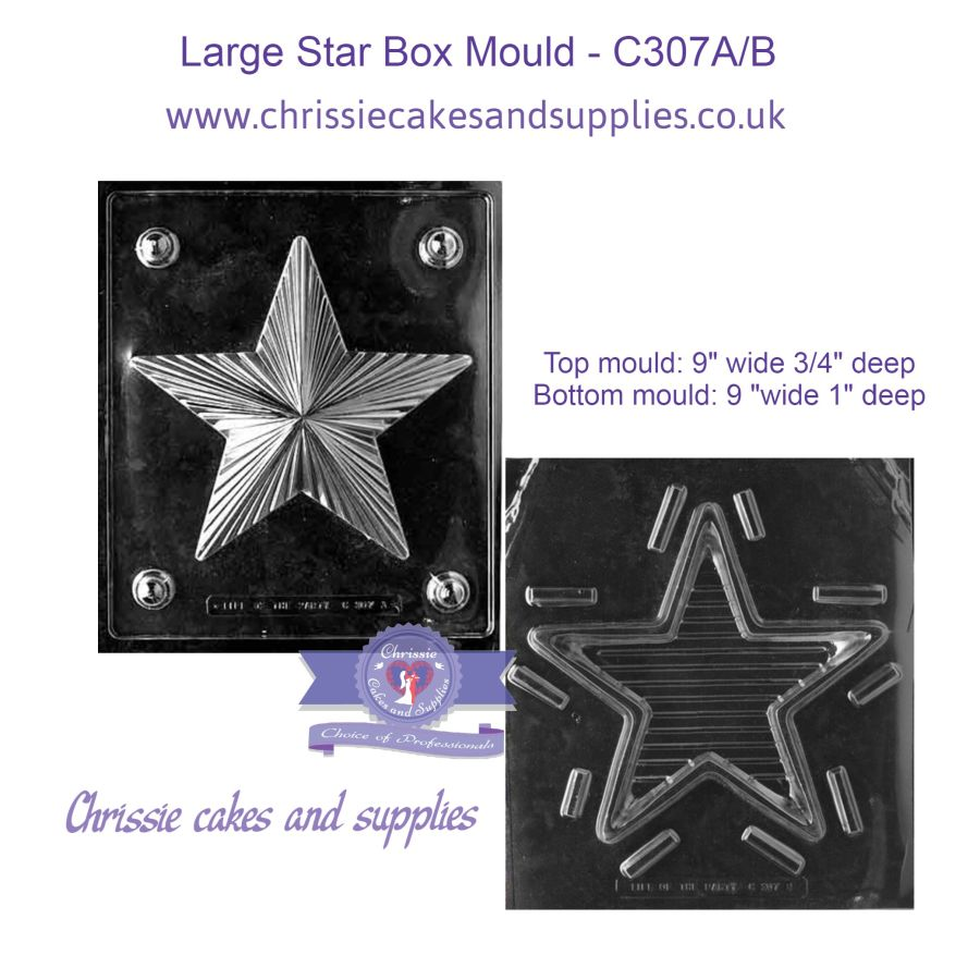 Large Star Box Mould - C307A/B