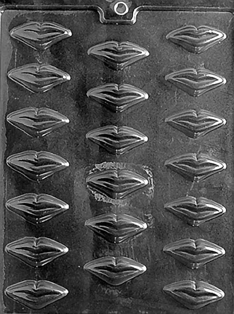 Bitesize lips chocolate mould - V011