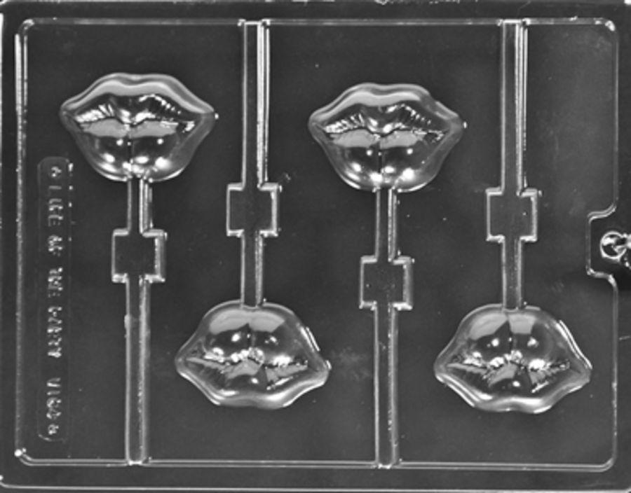Luscious Lips Lollipop Chocolate Mould V164