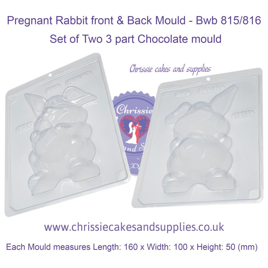 Pregnant Rabbit front & Back Mould - Bwb 815 and 816