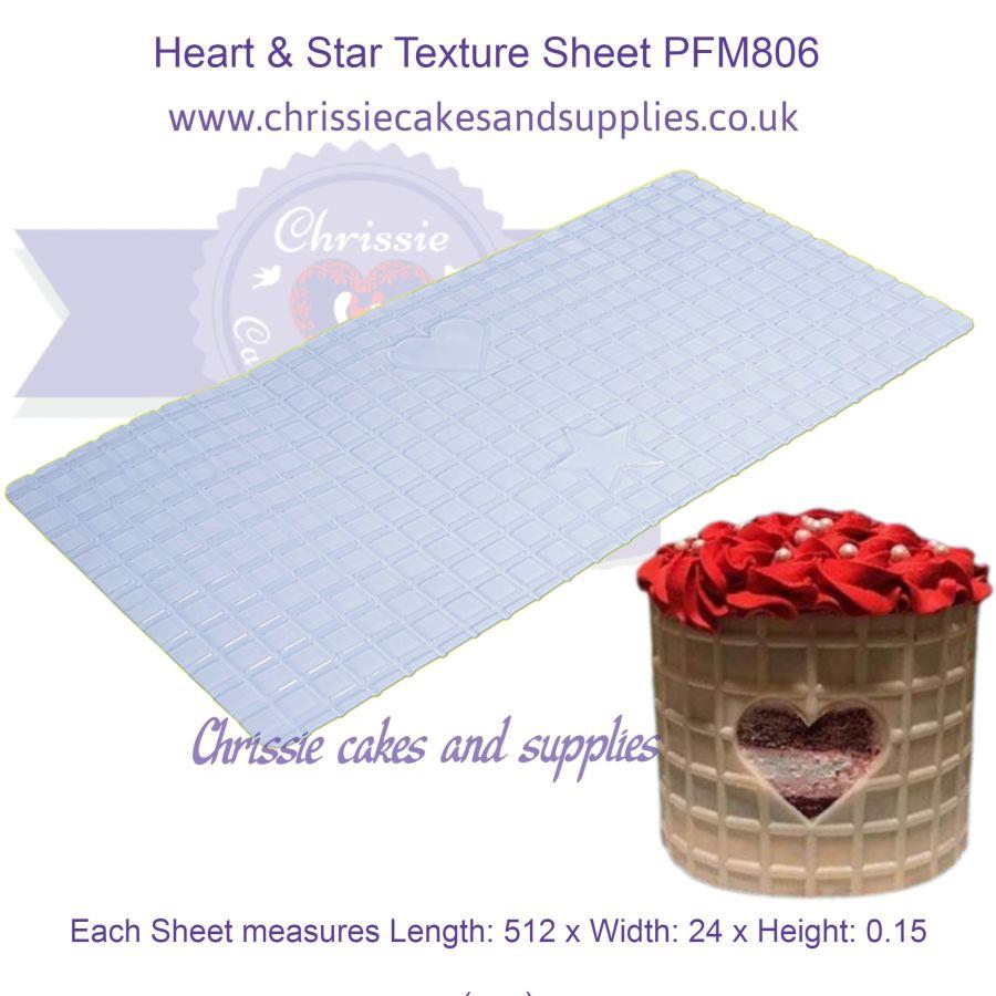 Heart & Star Texture Sheet PFM806