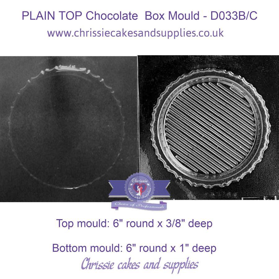 PLAIN TOP Chocolate Box Mould - D033B/C