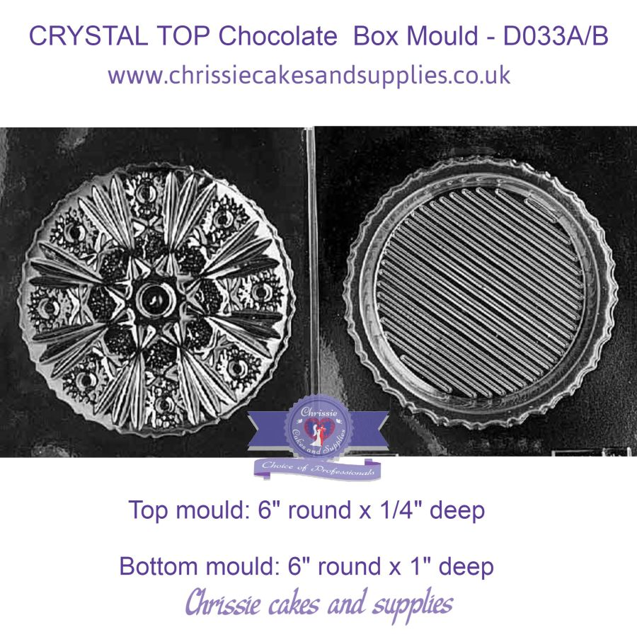 CRYSTAL TOP Chocolate Box Mould - D033A/B