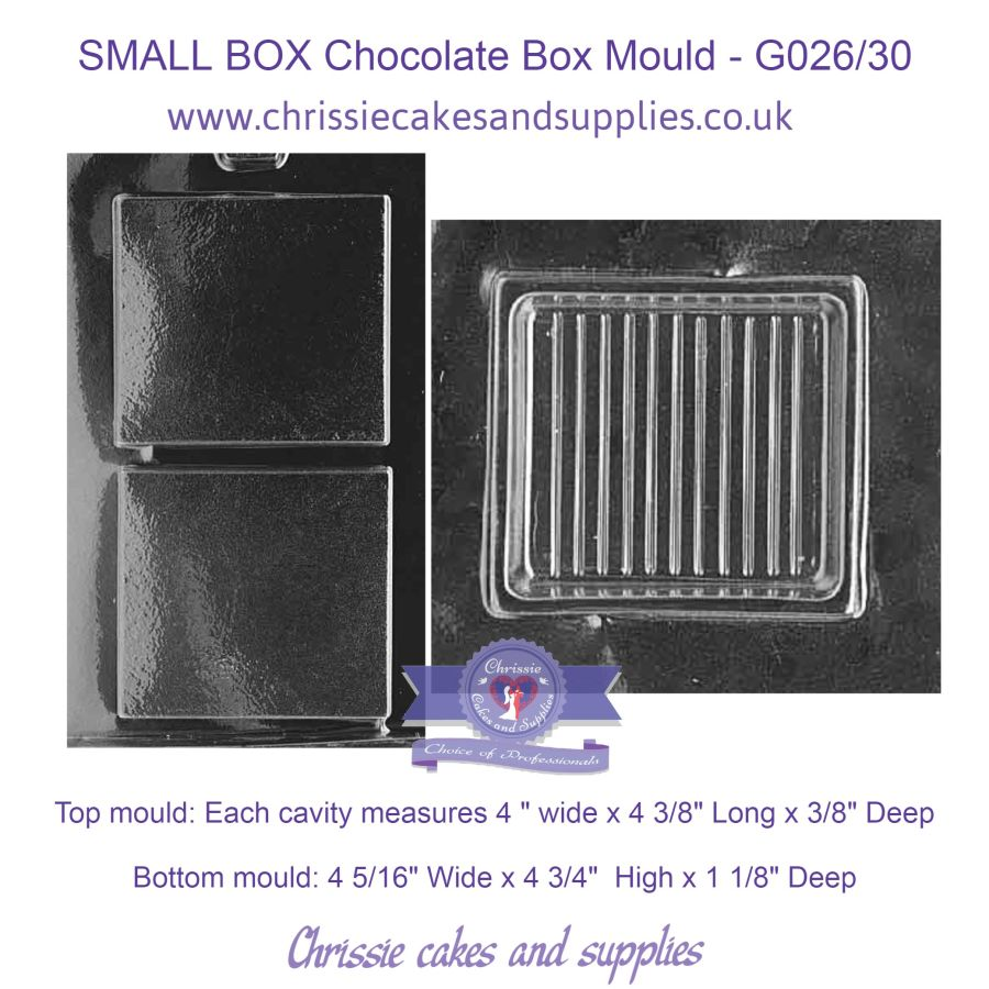 SMALL BOX Chocolate Box Mould - G026/30
