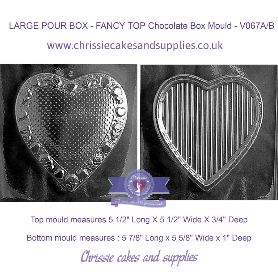 LARGE POUR BOX - FANCY TOP Chocolate Box Mould - V067A/B