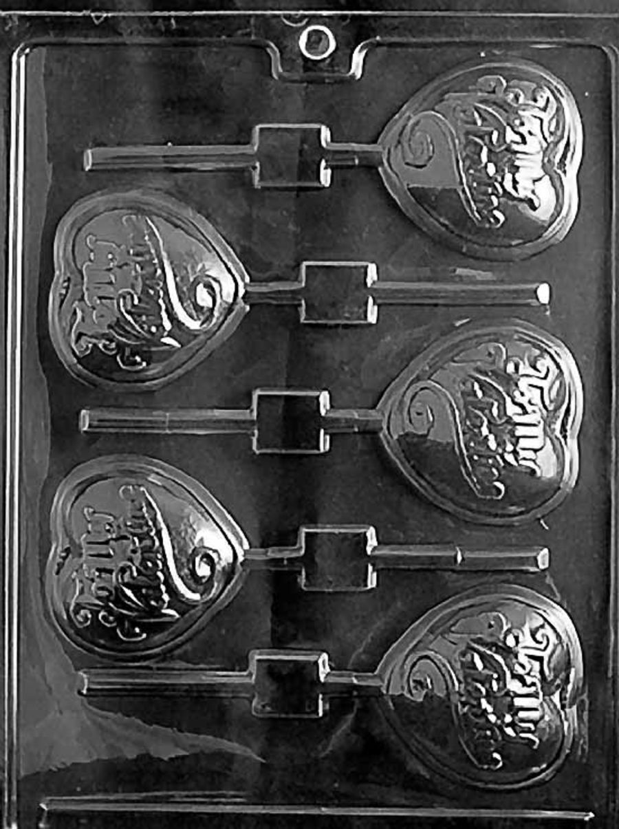 BE MY VALENTINE LOLLIPOP Chocolate Mould V035