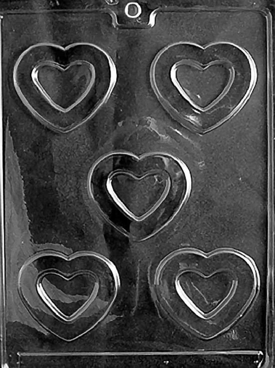 HOLLOW HEARTS Chocolate Mould V045