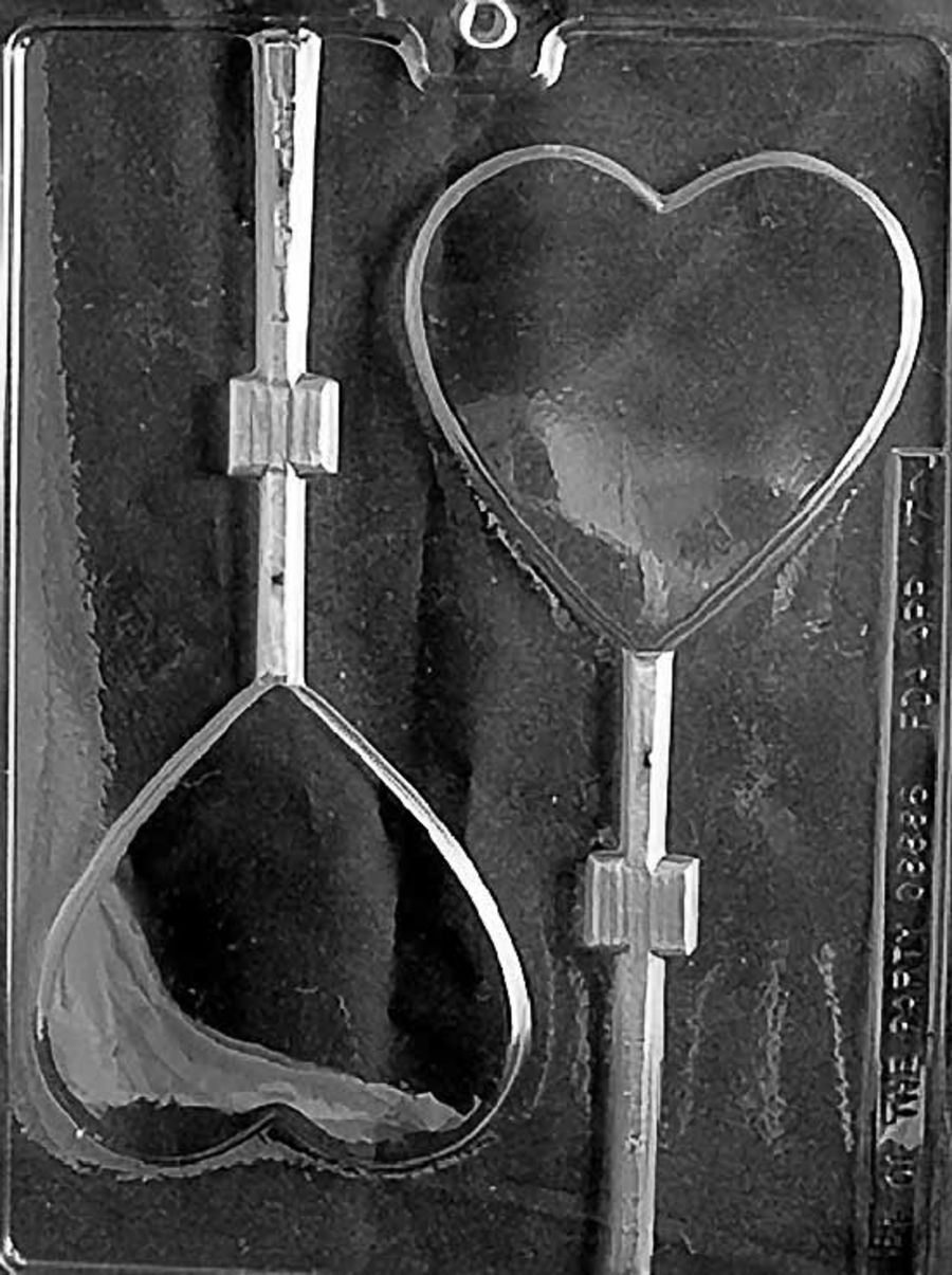LARGE HEART LOLLY Chocolate Mould V070