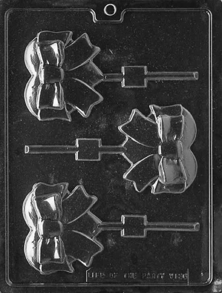 HEART WITH BOW LOLLY Chocolate mould V136