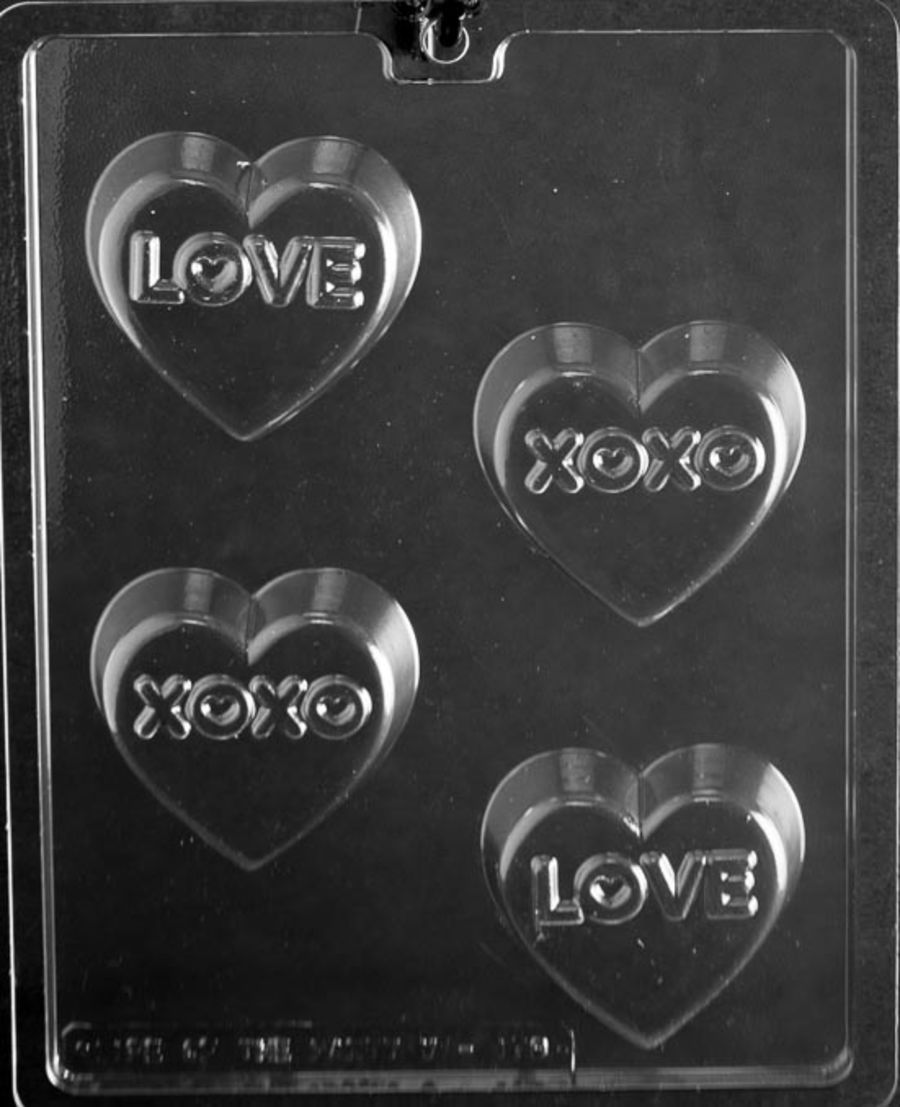 Love, XO, cookie Oreo Mould V179