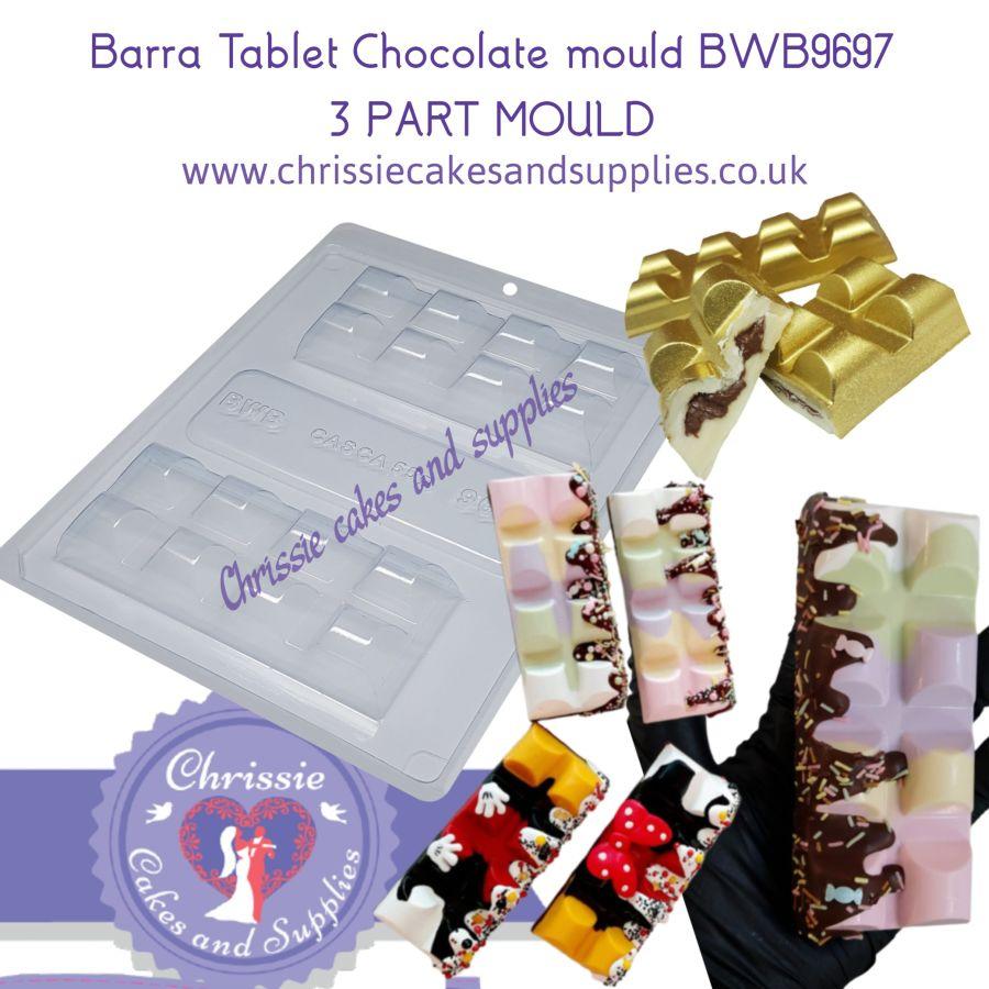 Barra Tablet Chocolate mould BWB9697 3 PART MOULD