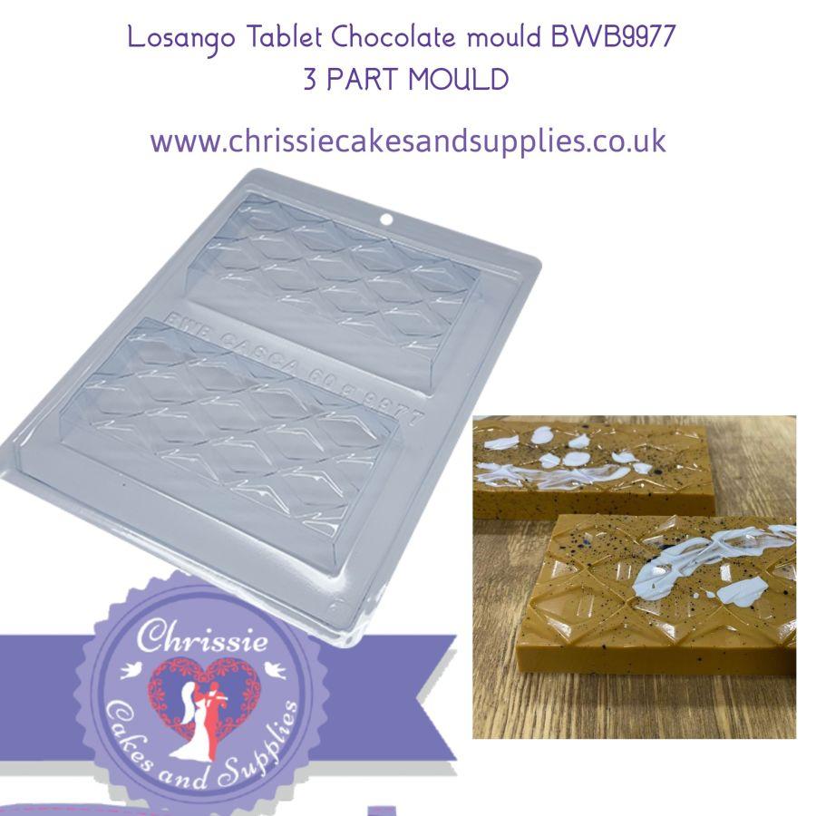 Losango Tablet Chocolate mould BWB9977 - 3 Part chocolate mould
