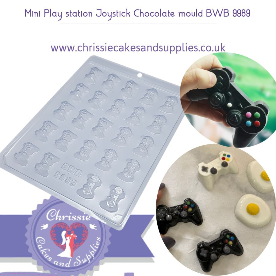24 cavity Mini Play station Joystick Chocolate mould BWB 9989