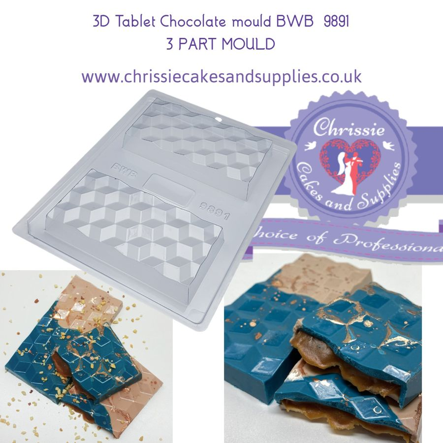 3D Tablet Chocolate mould BWB 9891 3 PART MOULD