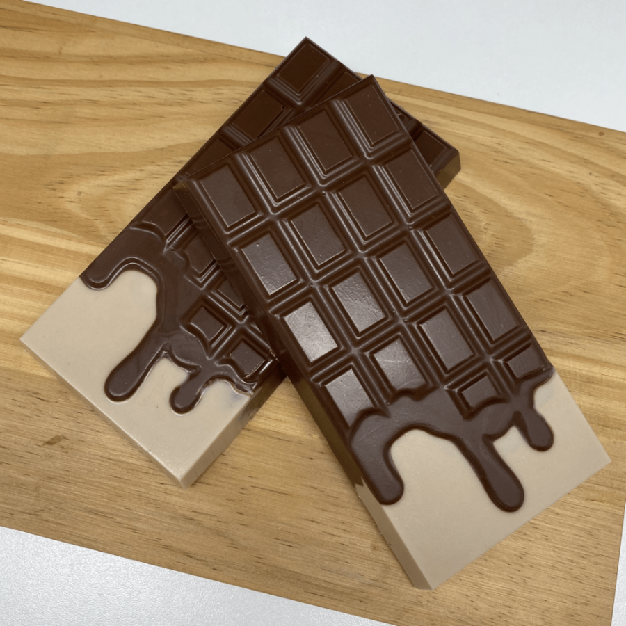 Melted Bar 3D Tablet - 3 part chocolate mould BWB 9909