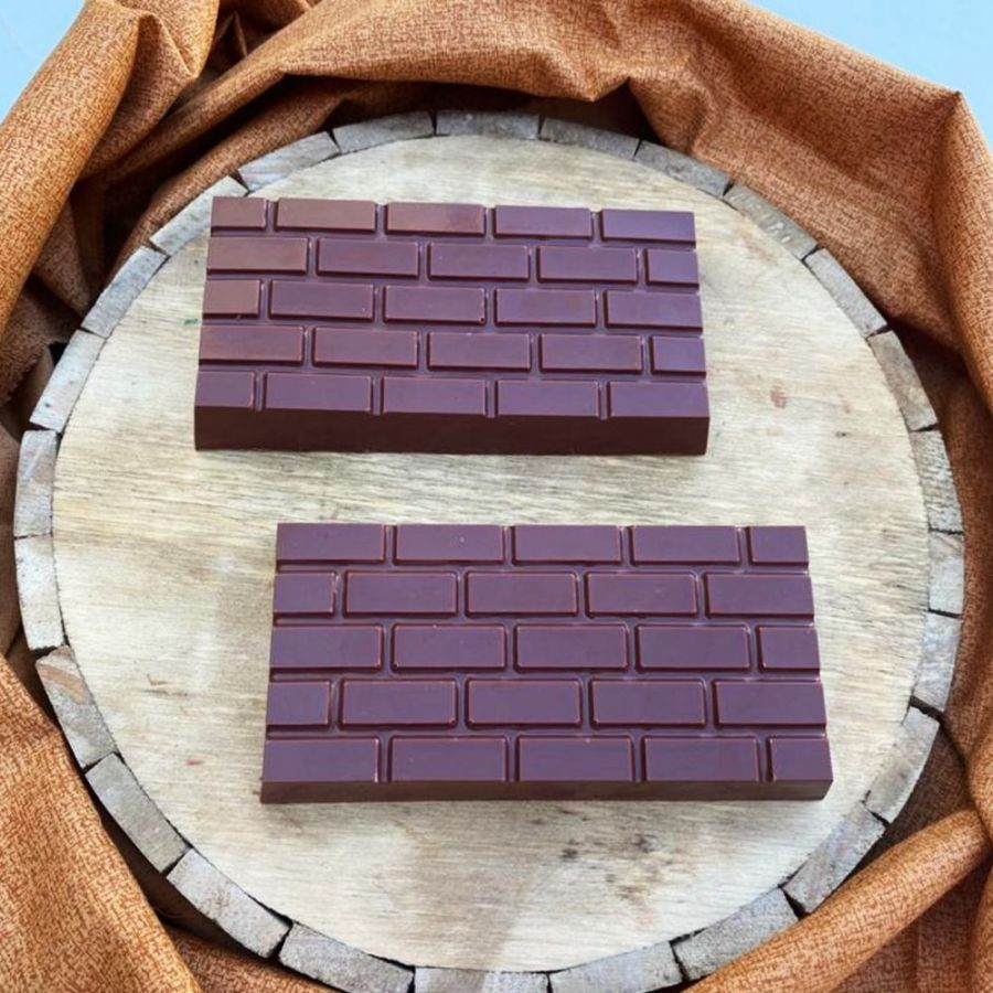 Brick 3D Tablet 3 part chocolate mould with Silicone insert BWB 9890