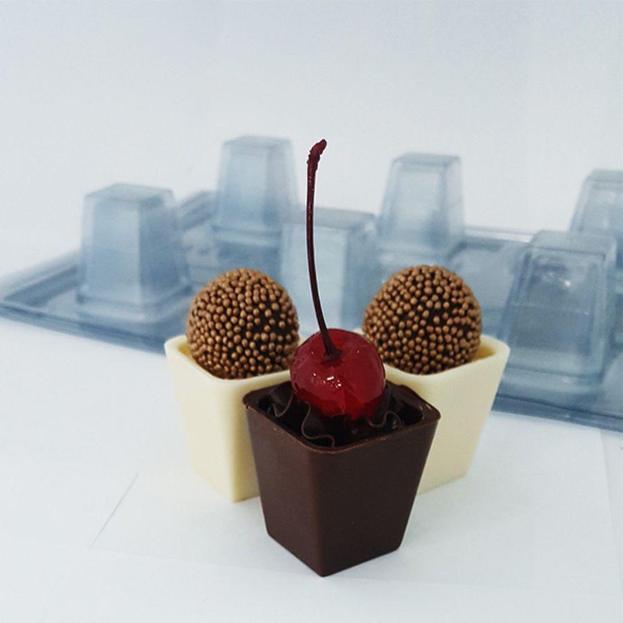 Elongated Mousse Box Special 3 part Chocolate Mould - BWB 9433 -
