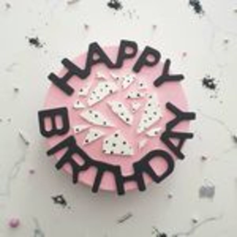 Happy Birthday Round Silicone Breakable Mould
