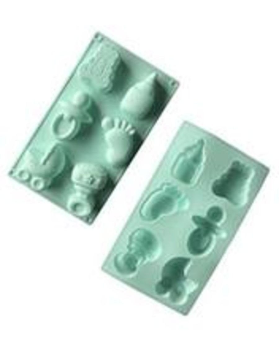 Baby Theme shaped Silicone Mould - 6 Cavity