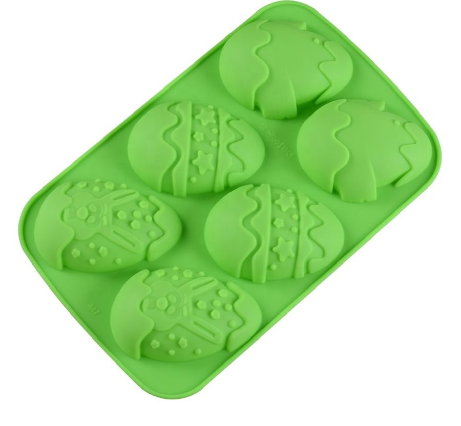 Easter Egg Shape Silicone Mould - 6 cavity