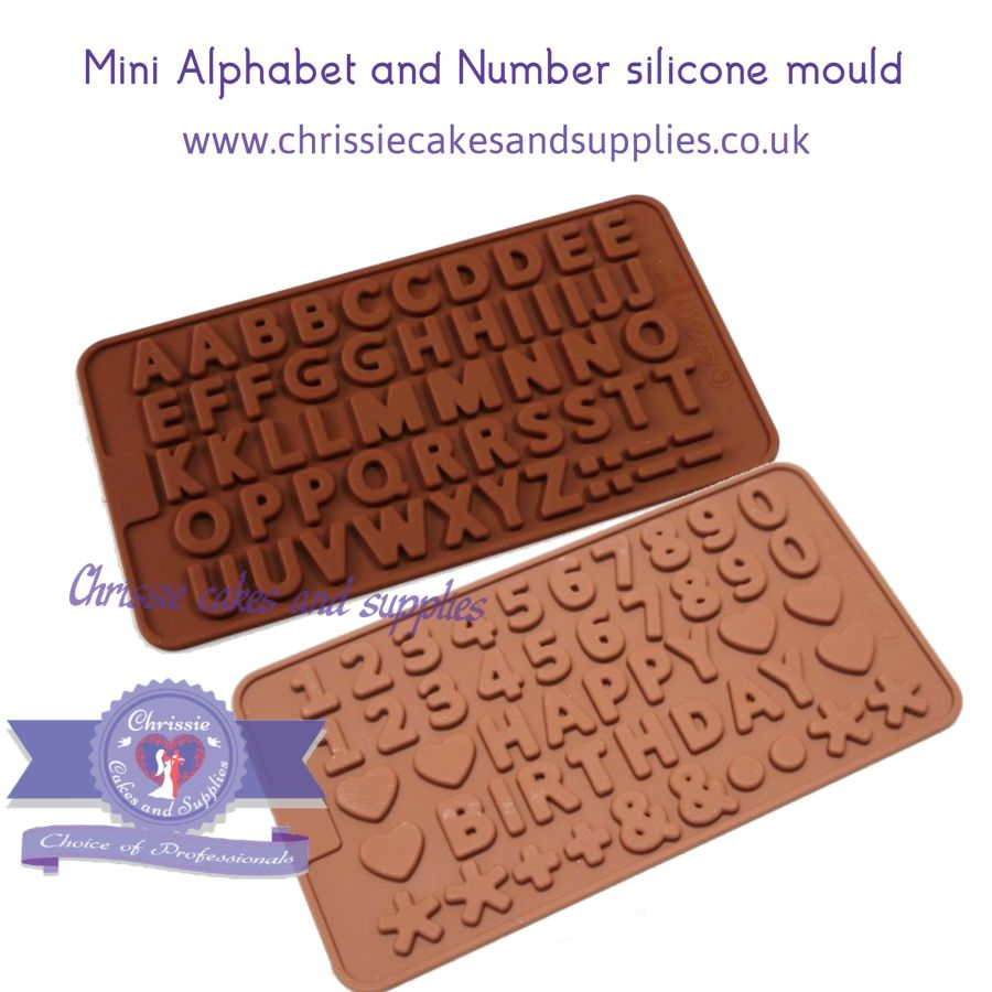 Mini Alphabet and Number silicone mould