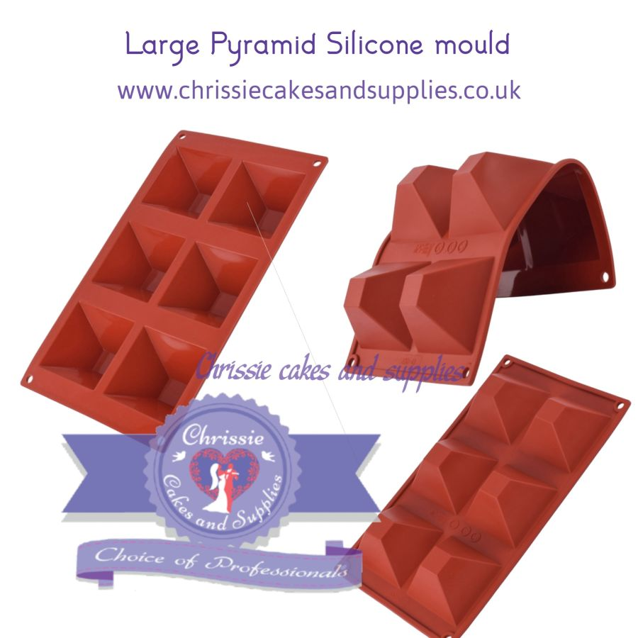 Large Pyramid Silicone Mould - 6 cavity