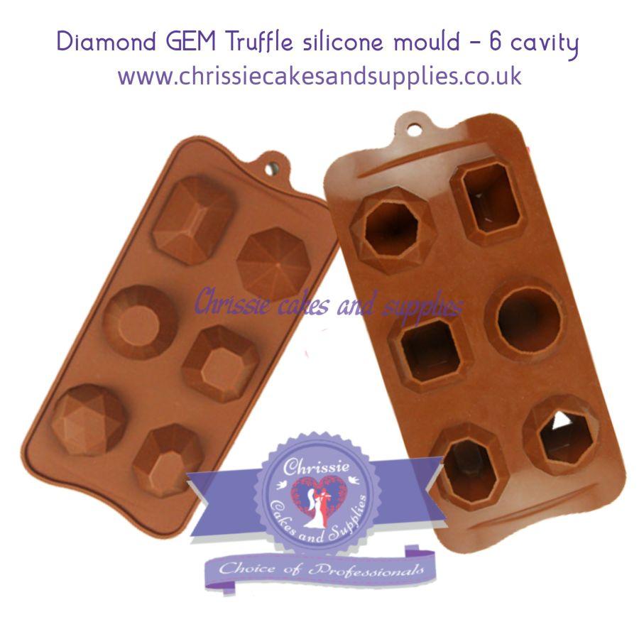 Diamond GEM Truffle silicone mould - 6 cavity