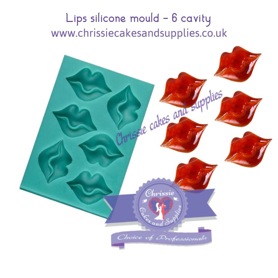 Lips topper silicone mould - 6 cavity