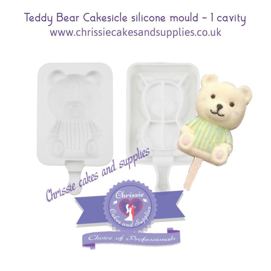 Teddy Bear Cakesicle Silicone Mould - 1 Cavity