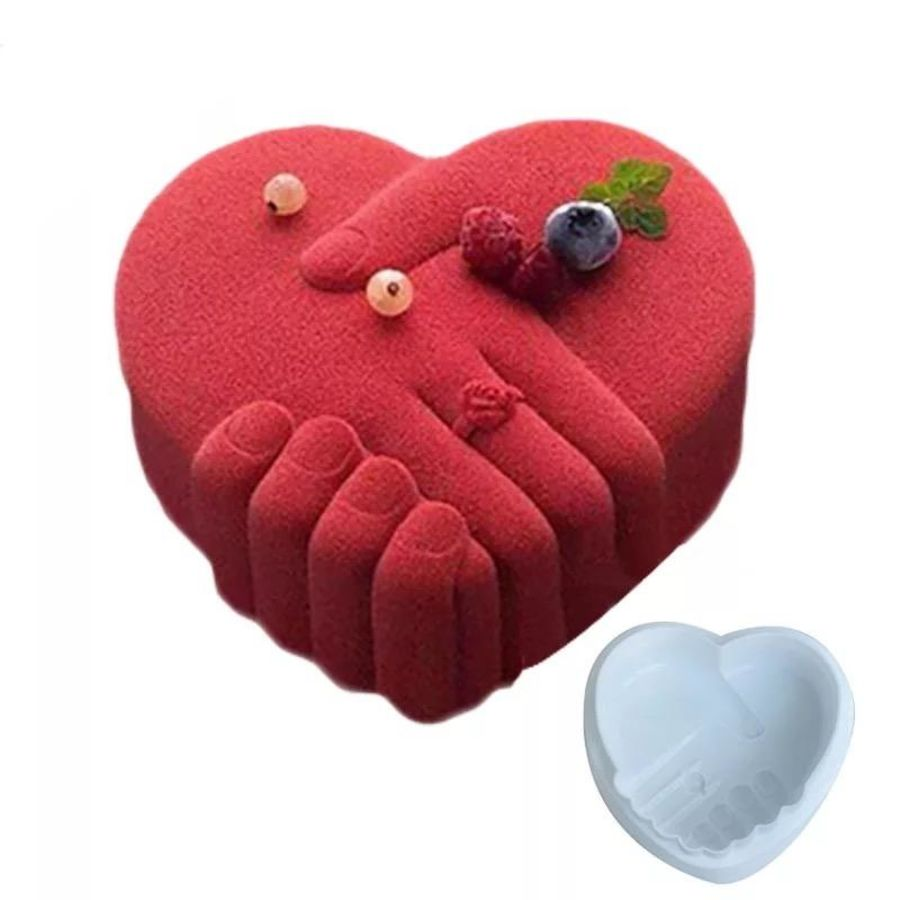 Hand Shaped Heart Breakable Silicone Mould