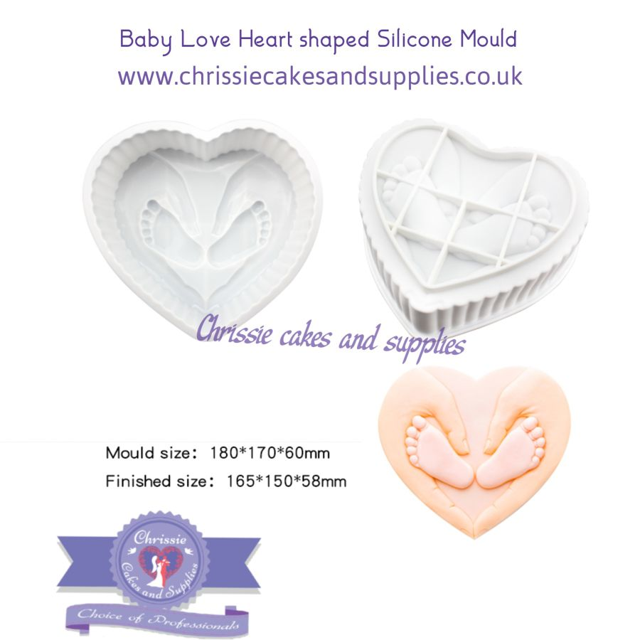 Baby Love Heart shaped Breakable Silicone Mould