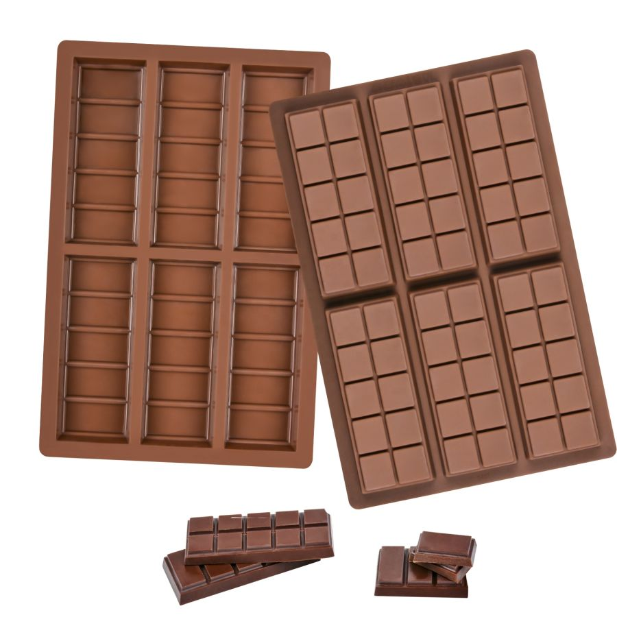 Set of 2 - BREAK APART CHOCOLATE BAR Silicone Mould