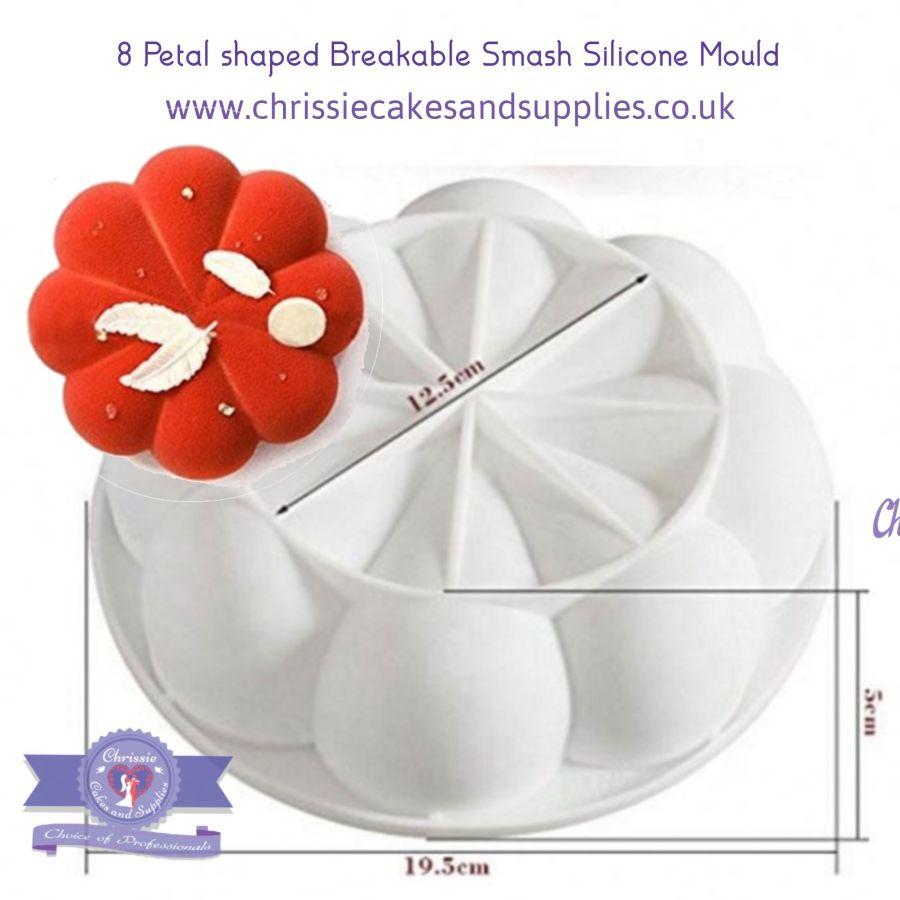 8 Petal shaped Breakable smash silicone mould