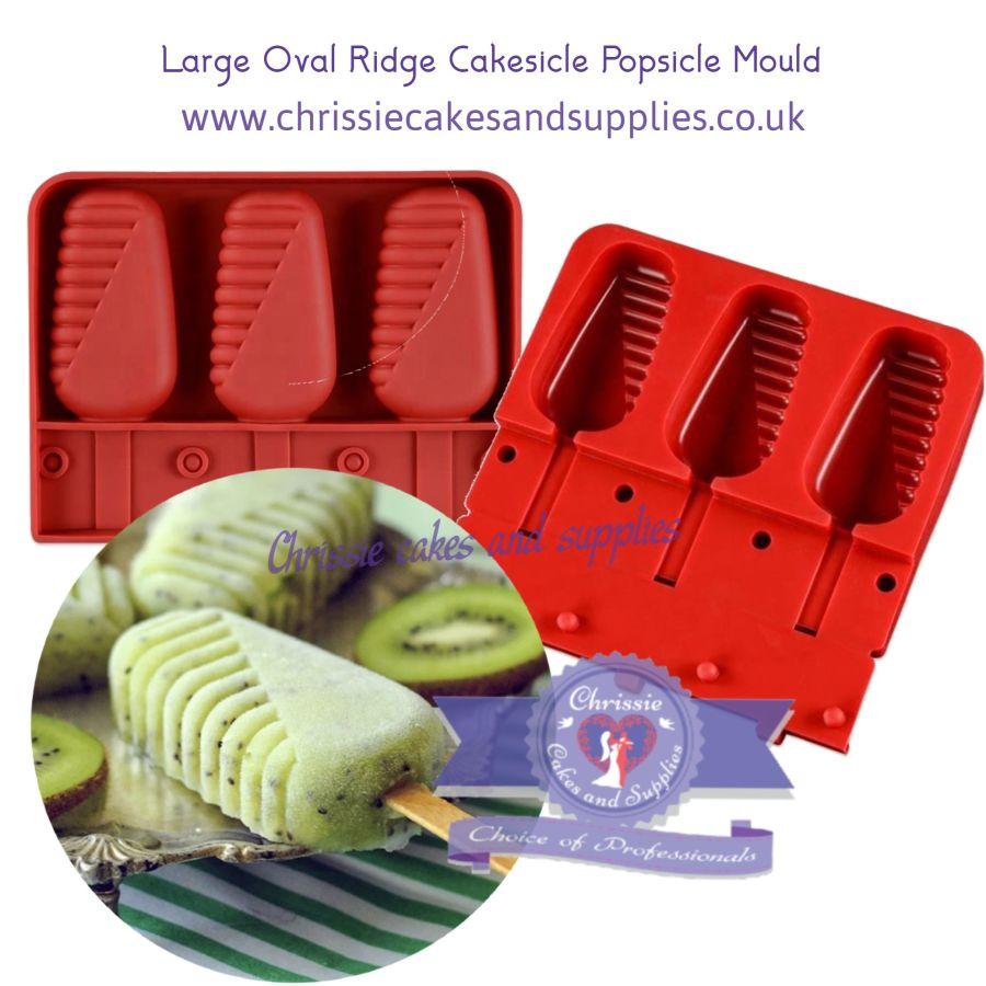 Large Oval Ridge Cakesicle Popsicle Mould