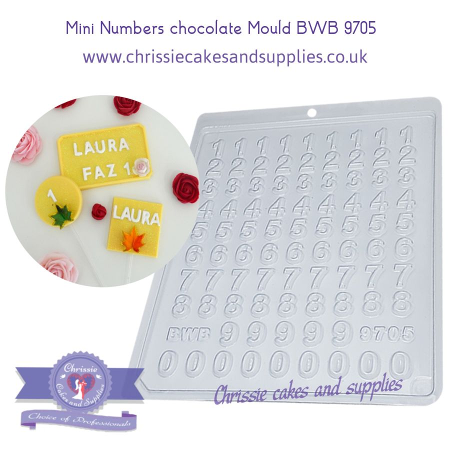 Mini Numbers Chocolate mould BWB 9705